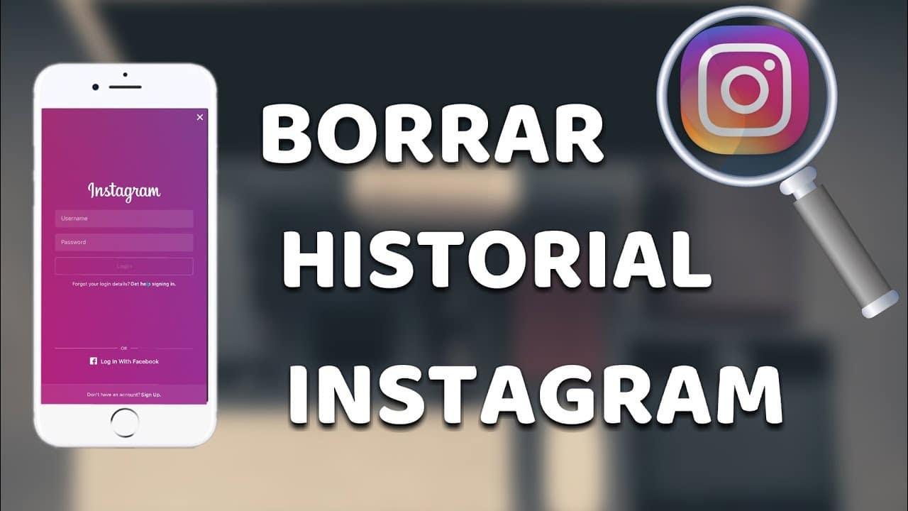 Entérese como eliminar historial de Instagram, fácilmente
