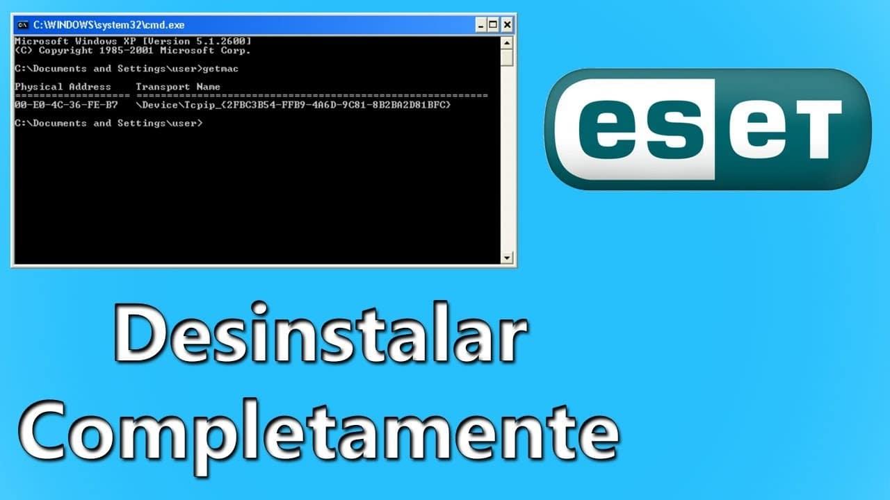 Desinstalar Eset nod32 en windows 7,