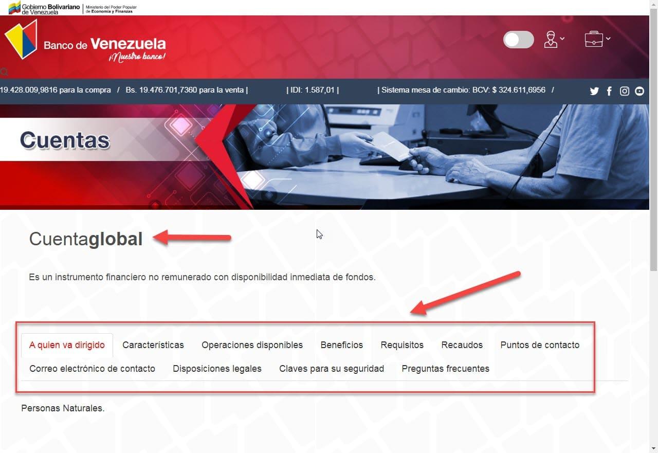 Apertura de cuenta en el Banco de Venezuela