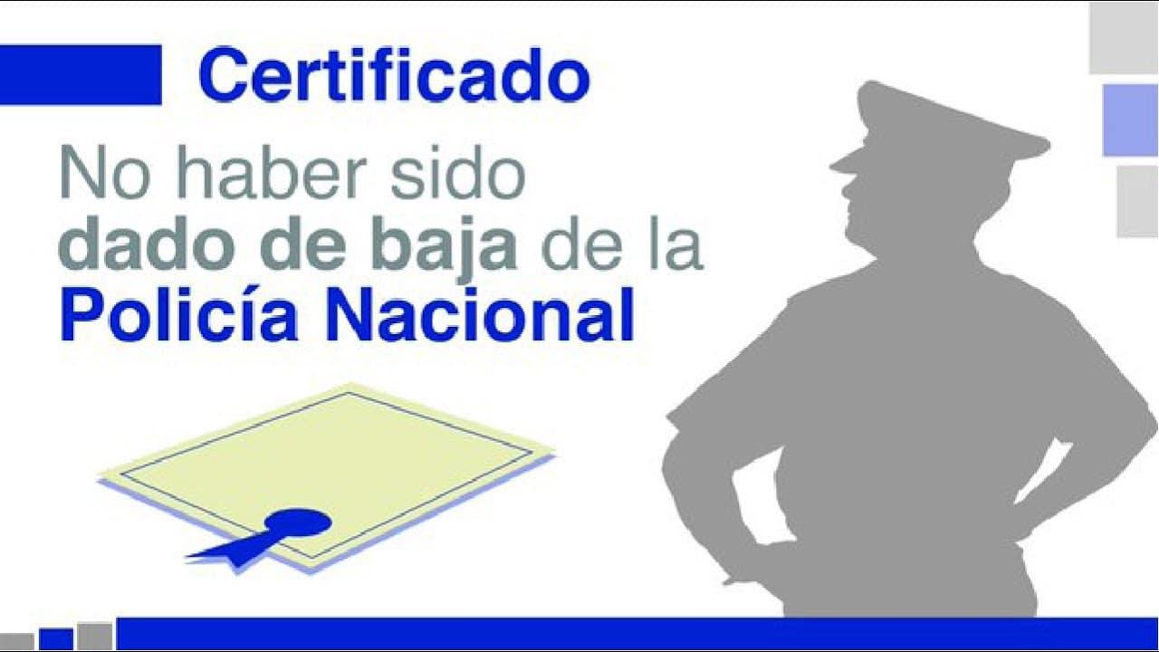 certificado de no pertenecer a la policía