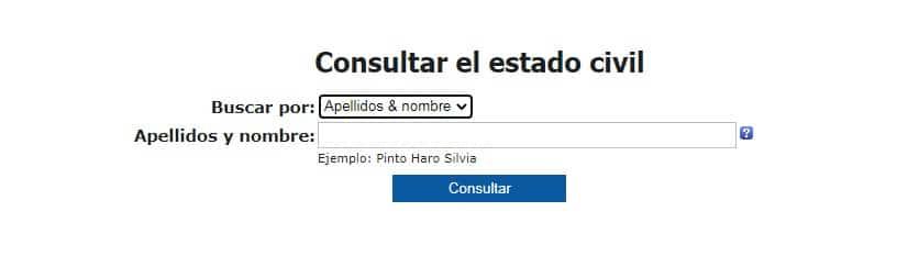 consular estado civil