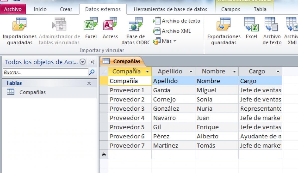 ¿Qué es una tabla en base de datos?