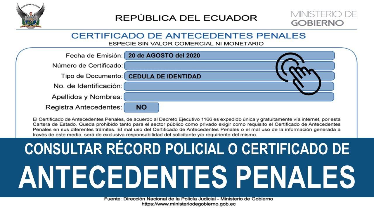 récord policial