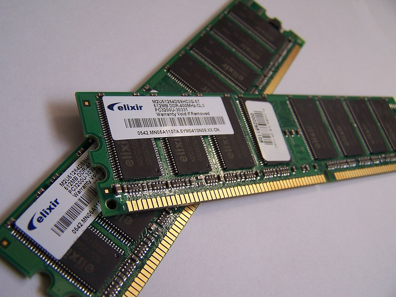tipos de memoria informática